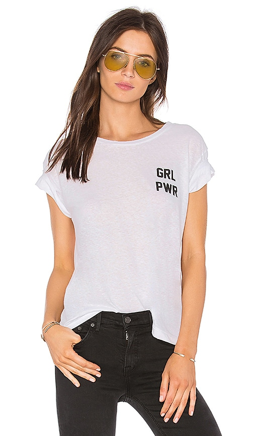 Private Party Girl Power Tee in White