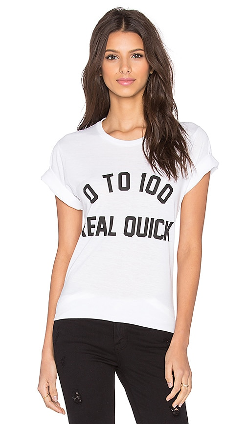 Private Party 0 To 100 Real Quick Tee in White