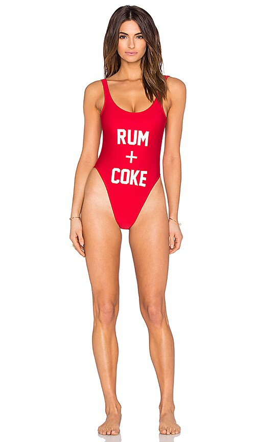 Rum & Coke One Piece Swimsuit