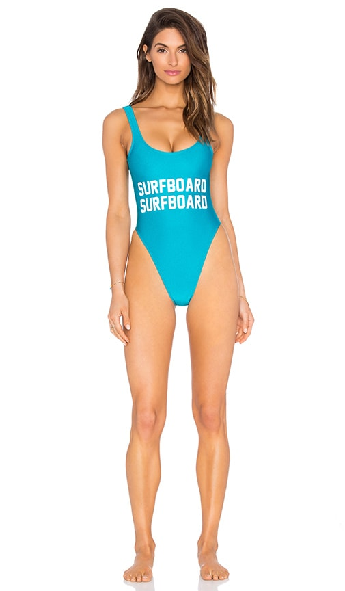 Private Party Surfboard One Piece Swimsuit in Madagascar Blue