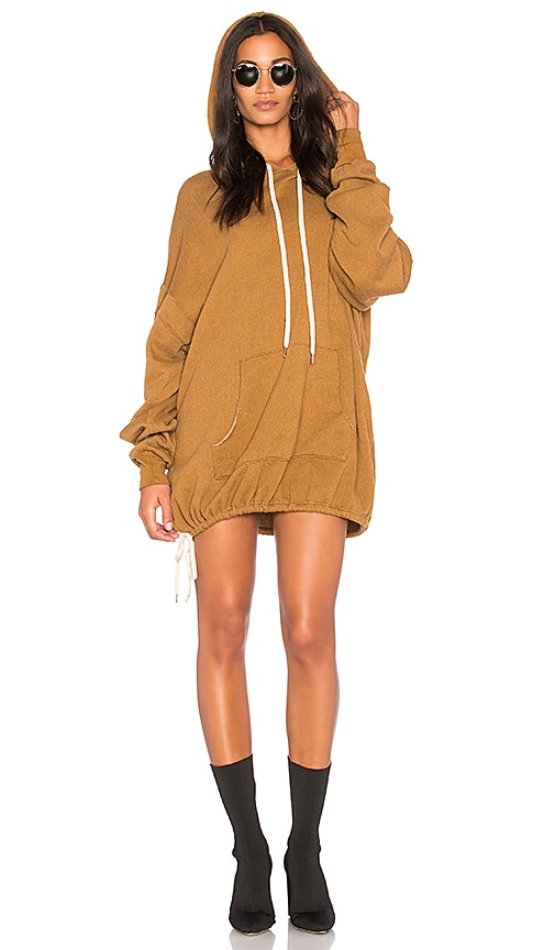 Project Social T Luca Hoodie Dress in Tan