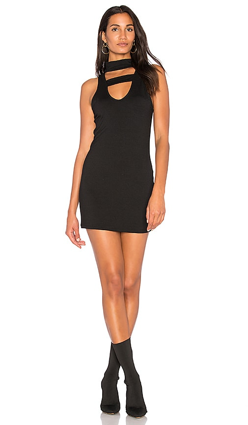 Project Social T Karin Keyhole Dress in Black