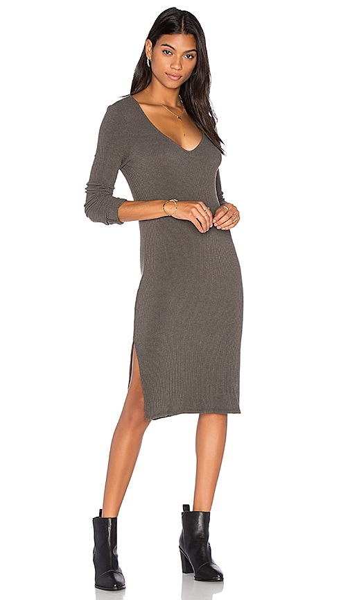 Project Social T Beverly Slit Dress in Olive