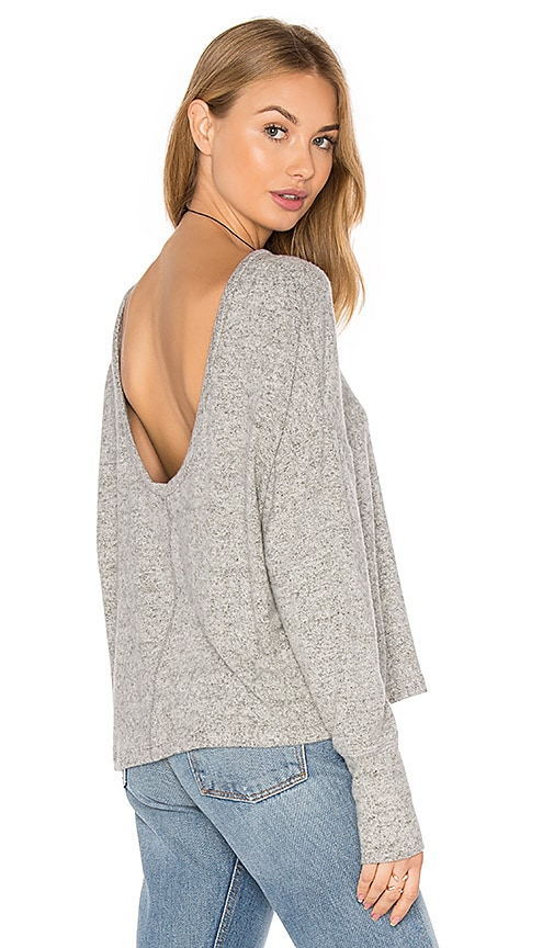 Project Social T Starlight Scoopback Sweater in Gray