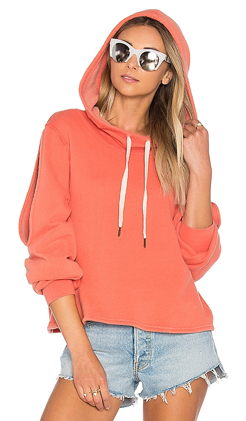 Project Social T Pierce Cold Shoulder Sweatshirt in Orange