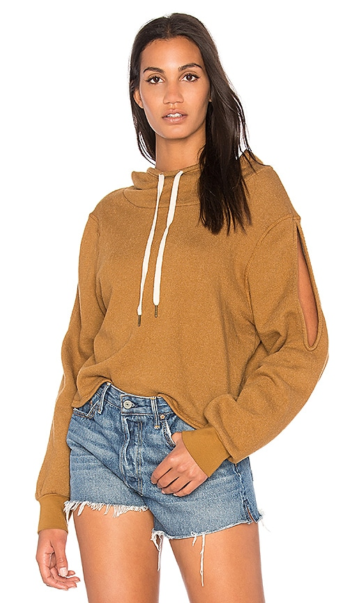 Project Social T Pierce Cold Shoulder Top in Brown