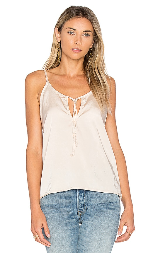 Project Social T Maggie Tied Tank in Beige