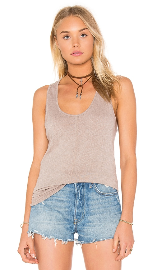 Project Social T Textured Tank in Brown