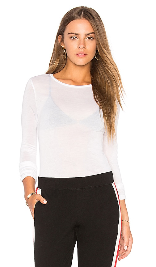Project Social T Delphine Sheer Top in White