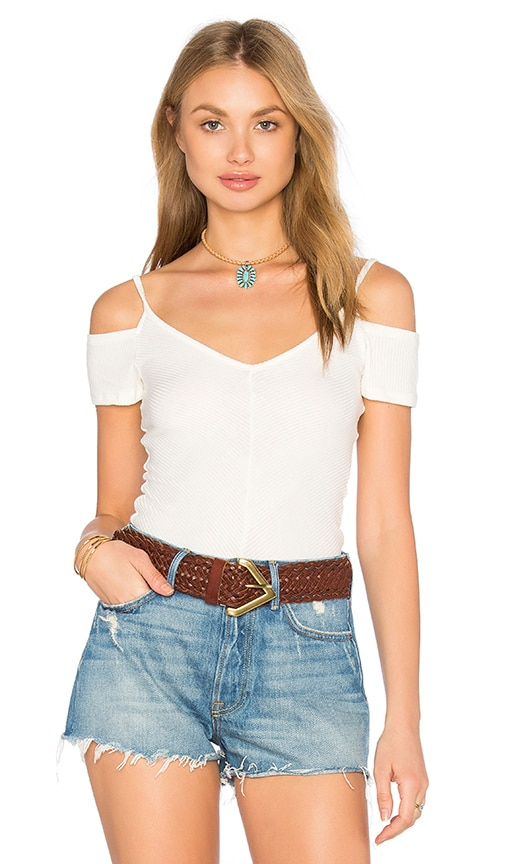 Project Social T Cold Off Shoulder Top in White