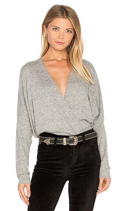 Project Social T Close To Me Surplice Top in Grey