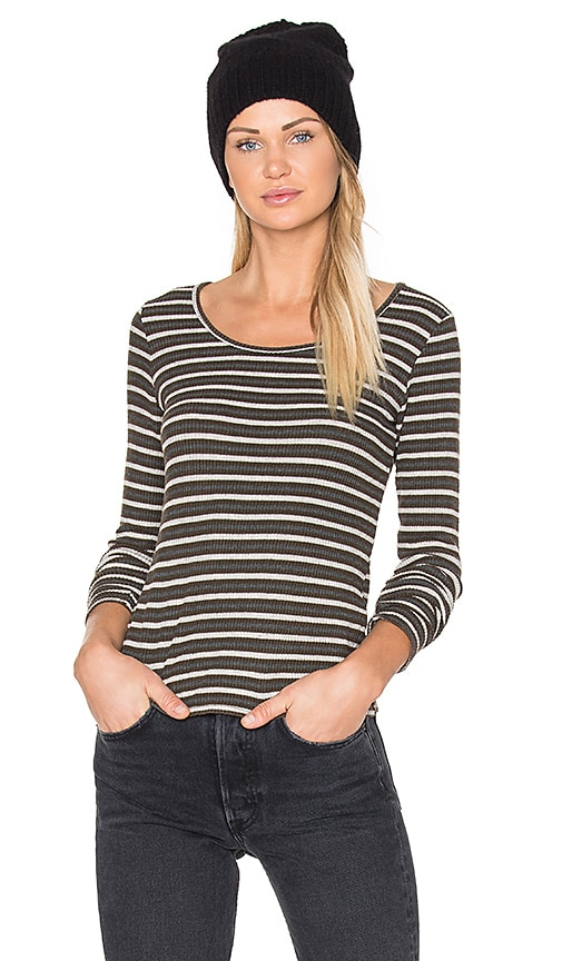 Project Social T Picadilly Striped Tee in Army