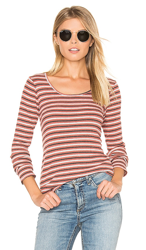Project Social T Piccadilly Striped Tee in Red