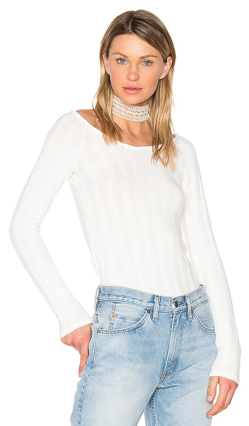 Project Social T Retrograde Off Shoulder Top in Taupe