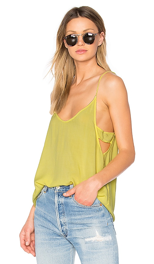 Project Social T Astrid Banded Side Tank in Yellow