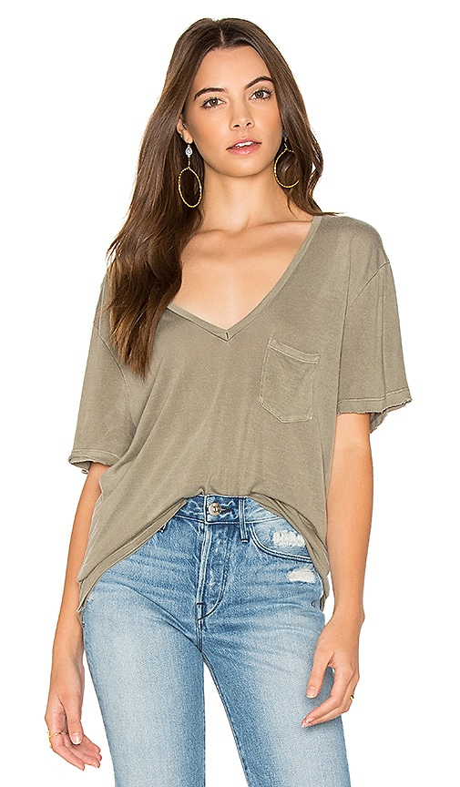 Project Social T Rylee Pocket Tee in Army