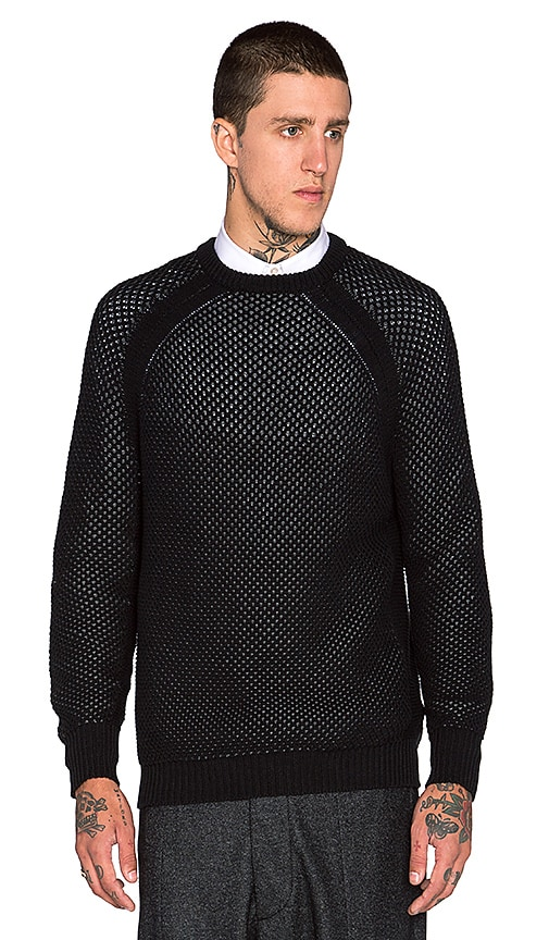 Public School Reverse Tuck Pullover in Charcoal & Black