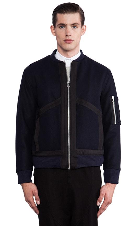 Wool Felt Bomber Jacket