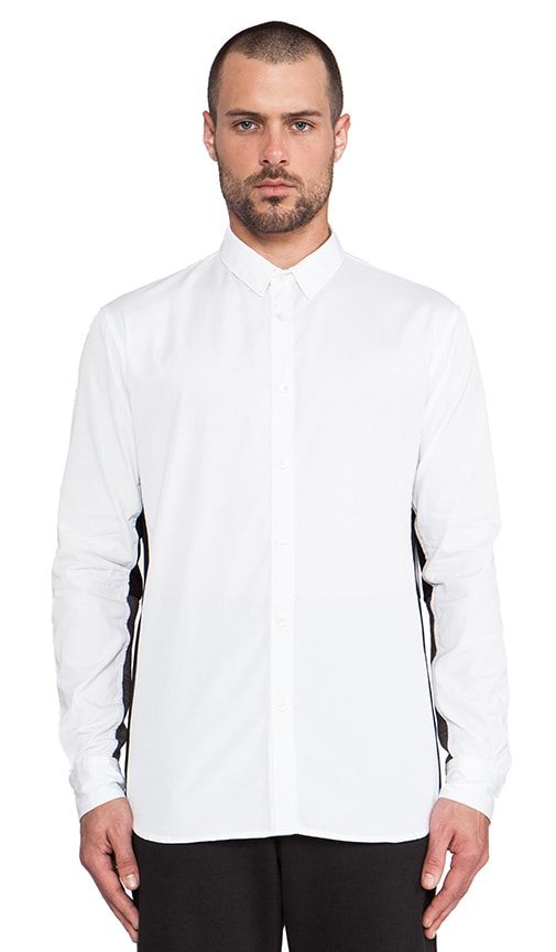 Contrast Under Sleeve Button Down