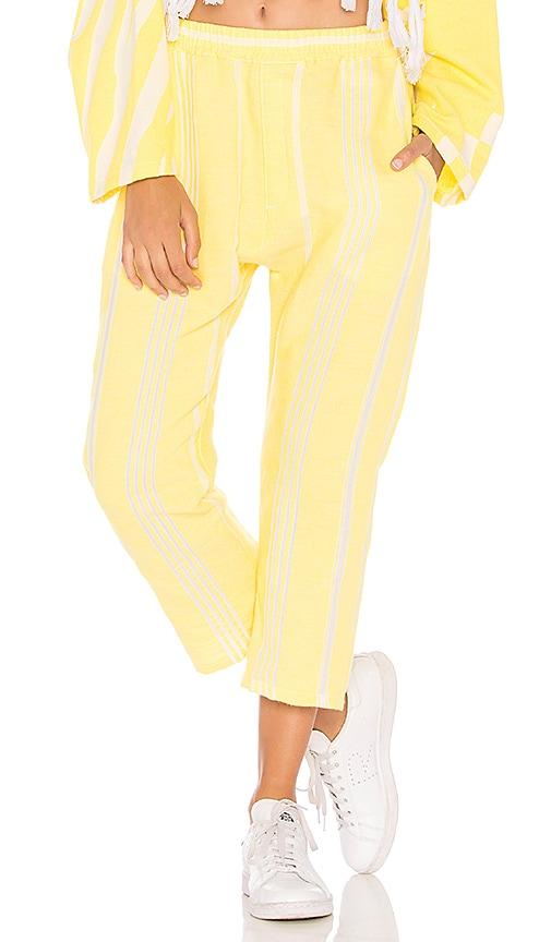 Paradised Beach Pants in Yellow