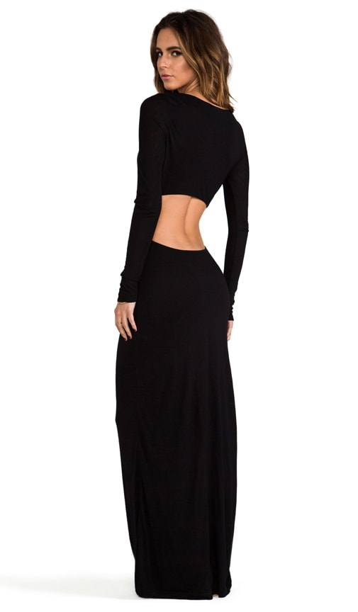 EXCLUSIVE Long Sleeve Open Back Maxi Dress