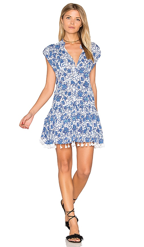 Poupette St Barth Heni Mini Dress in Blue