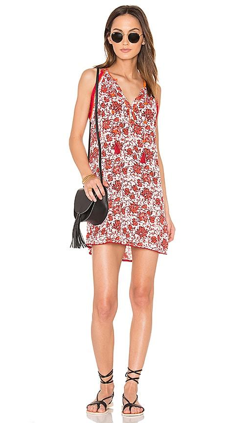 Poupette St Barth Lola Mini Dress in Red