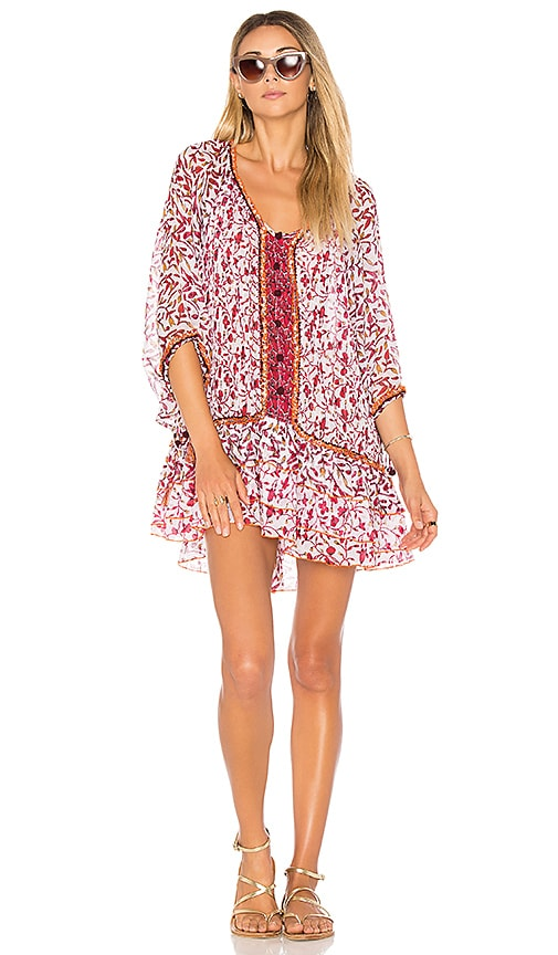 Poupette St Barth Bobo Poncho Dress in Pink