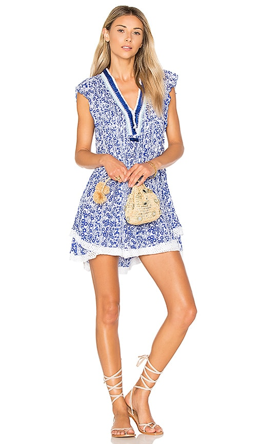 Poupette St Barth Sasha Mini Dress in Blue