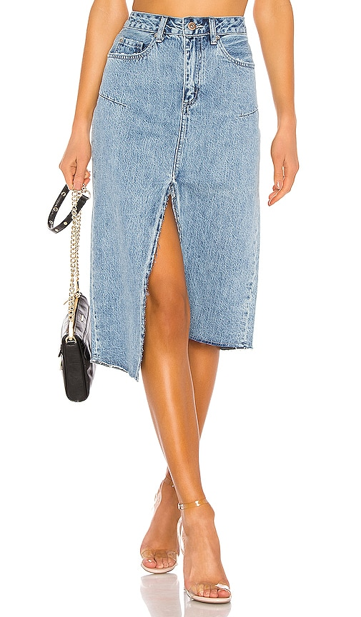 Kaia Denim Midi Skirt