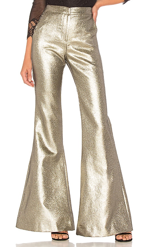 Petersyn Emma Pant in Metallic Gold