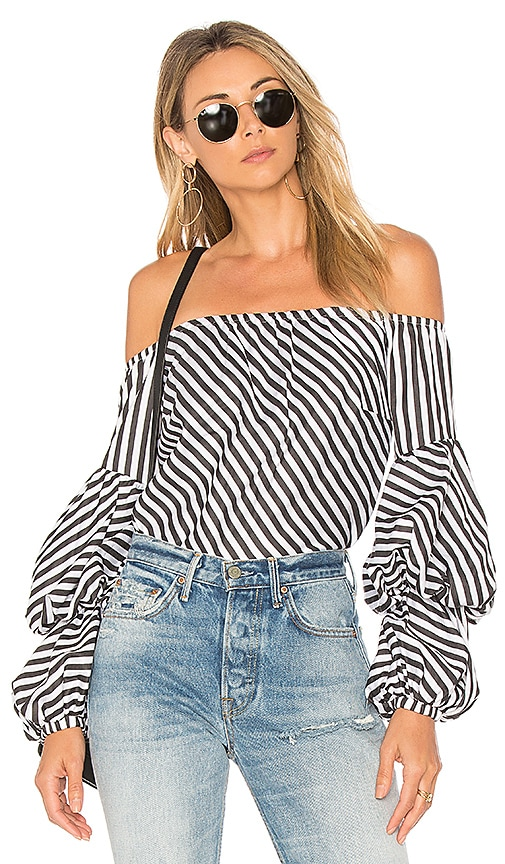 Petersyn Lily Top in Black & White