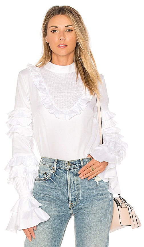 Petersyn Lulu Top in White