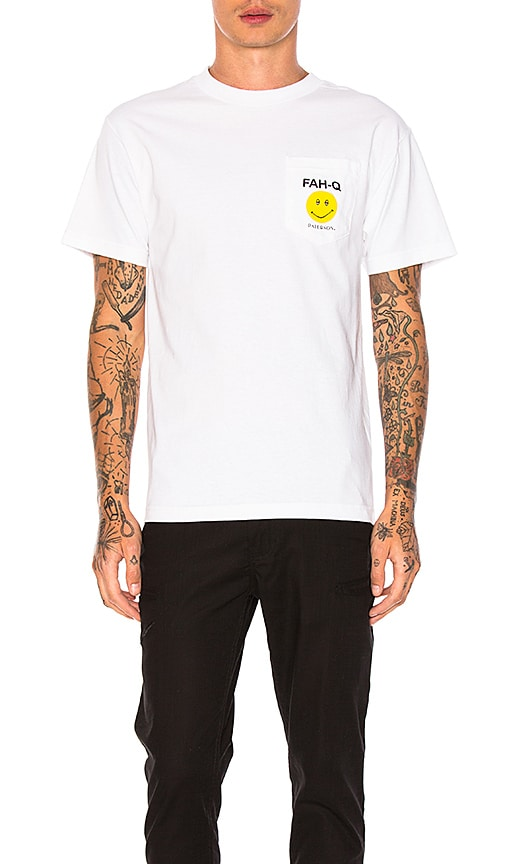 Paterson Fah Q Pocket Tee in White