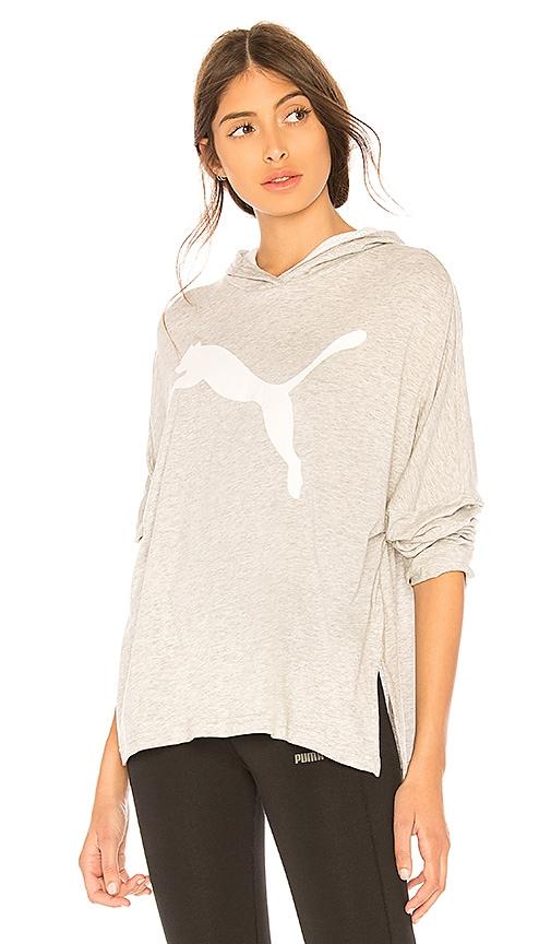 Puma Urban Sports Hoodie in Light Gray