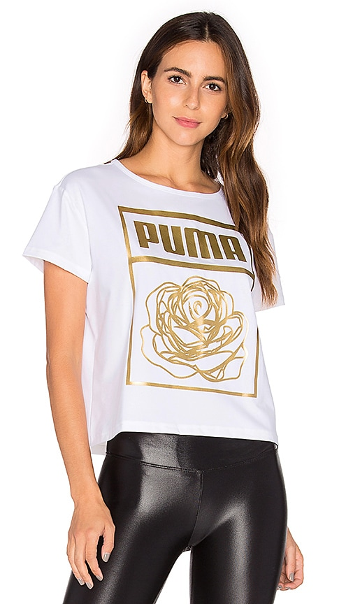 Puma x CAREAUX Logo Tee in White