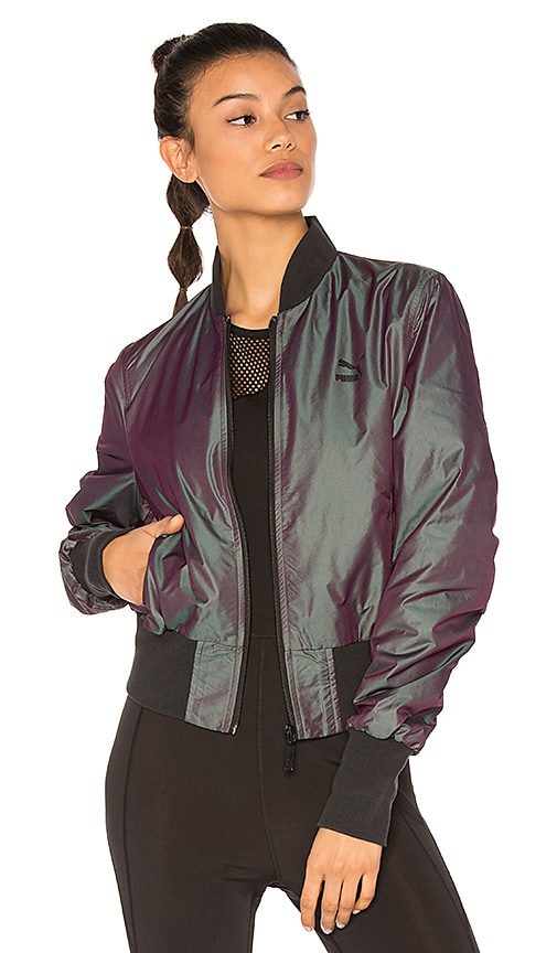 Puma Iridescent Bomber in Purple