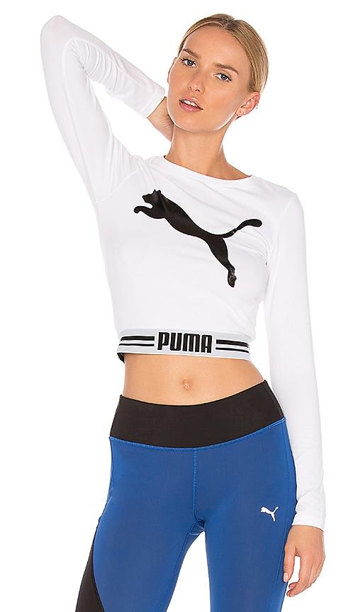 7df84e6453aee Puma Fly Cat Crop Top in White