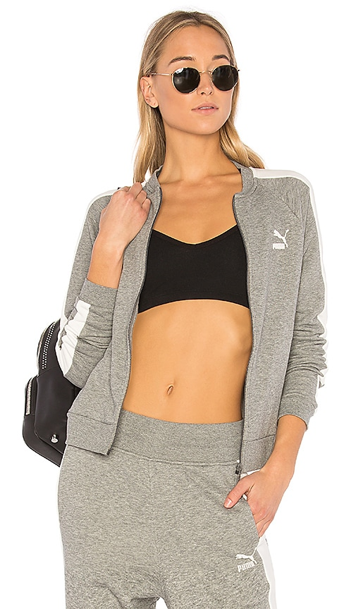 Puma Archive Logo T7 Track Jacket in Gray
