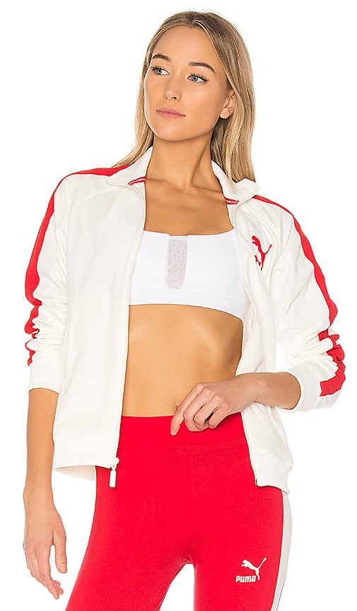 Puma True Archive T7 Track Jacket in Marshmallow  ce62658b40
