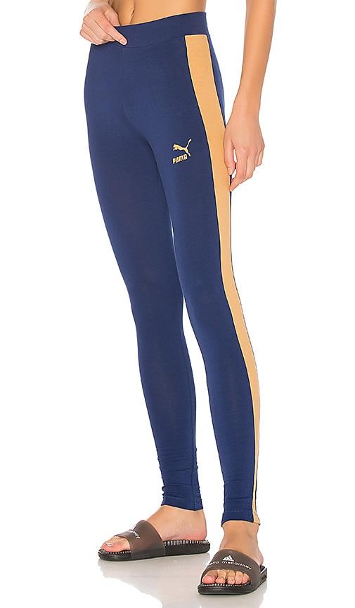 Puma Archive Logo T7 Legging in Blue