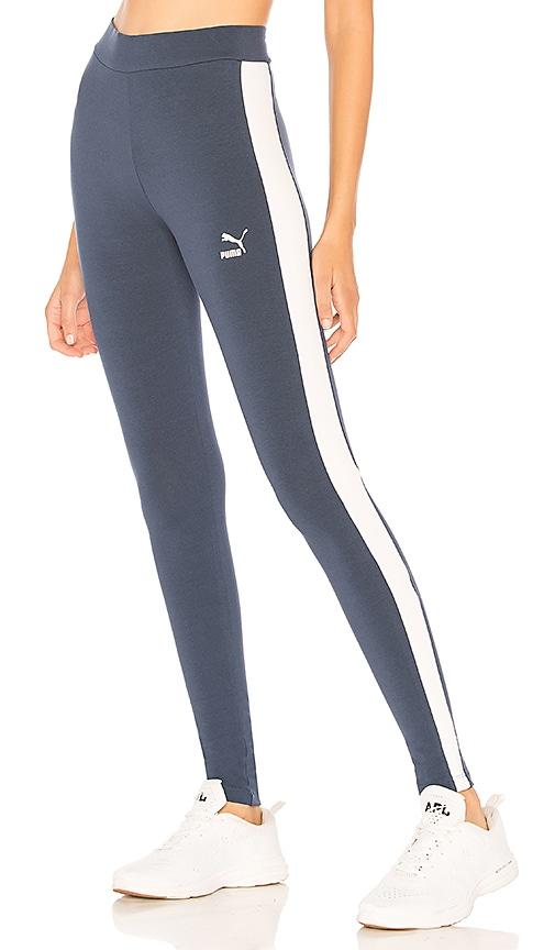 Puma Classics Logo T7 Legging in Blue