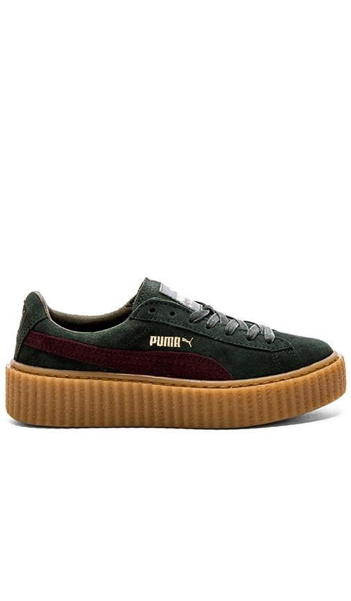 buy online 6d5e3 48922 Puma x Rihanna Creepers Sneaker in Green Bordeaux Gum | REVOLVE