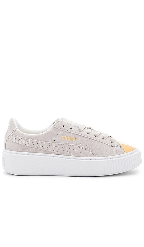 Puma Creeper Gold Toe Sneaker in Beige