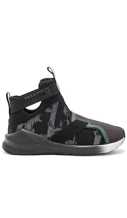 Puma Fierce Strap Swan Sneaker in Black