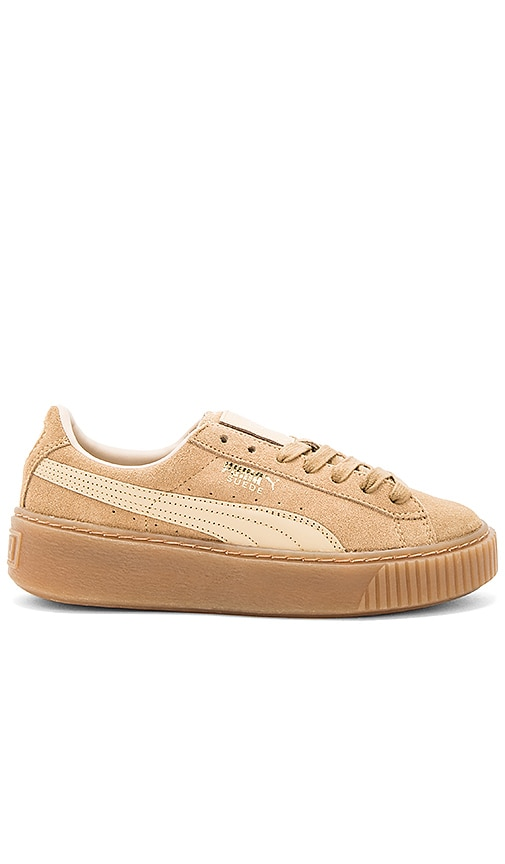 Puma Suede Core Platform in Tan
