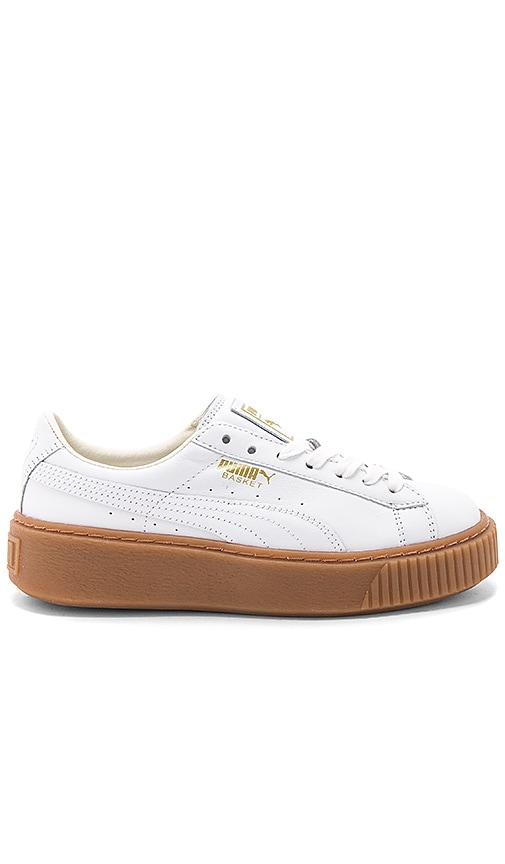 Puma Basket Core Platform in White