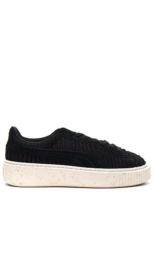 hot sale online 35a01 e6403 Puma Basket Platform Sneaker in Puma Black & Whisper White ...