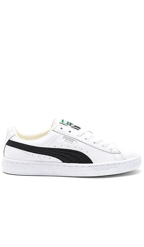 buy popular c3250 c62c2 Puma Basket Classic Sneaker in Puma White & Puma Black | REVOLVE