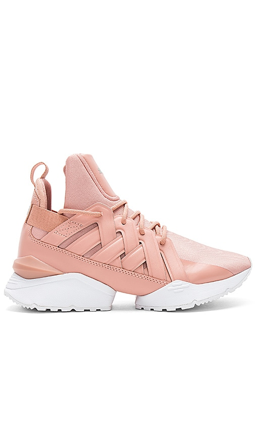 Puma Muse Echo Satin Sneaker in Pink